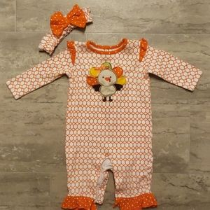 Baby Essentials 2pc. Turkey Outfit Size 9 mo.